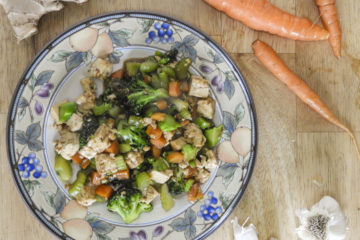 Chinese veggies and rice
